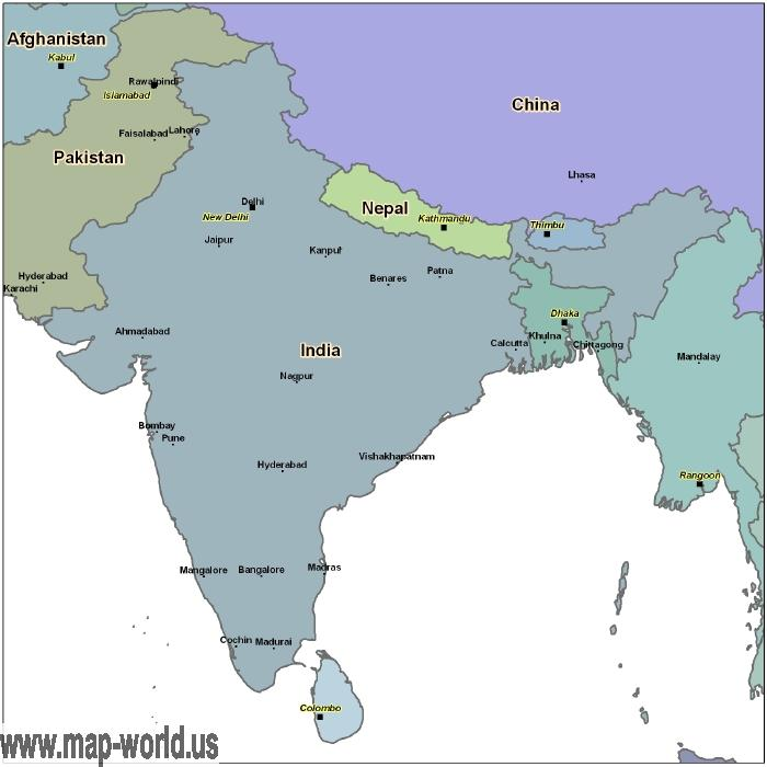 Map of India India Map World Map