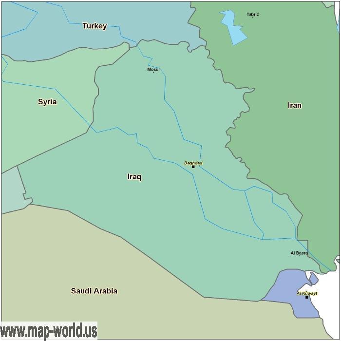 Map of Iraq Iraq Map World Map