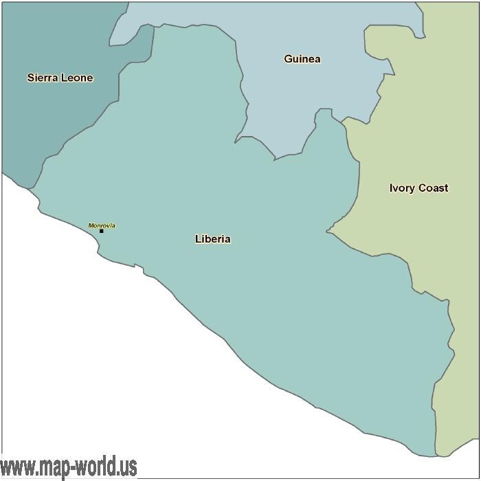 map of liberia africa. Map fo Liberia - Liberia Map