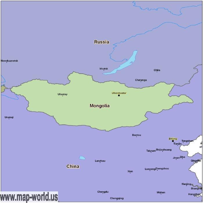 Map of Mongolia Mongolia Map World Map